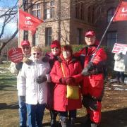 Health care march to Queens Park Toronto