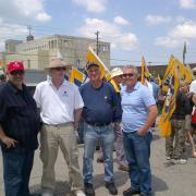 Tony Ferrari, Ron McKenzie Bombardier Leardership with Steel workers