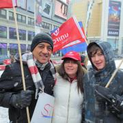 Demonstration at Dundas Square in support of Cambodian Workers