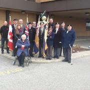 Remembrance Day At Bombardier Unit with both Local 673 & 112 and Veterans from Legion 528